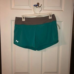 Shorts - M teal/gray Under Armour heat gear shorts